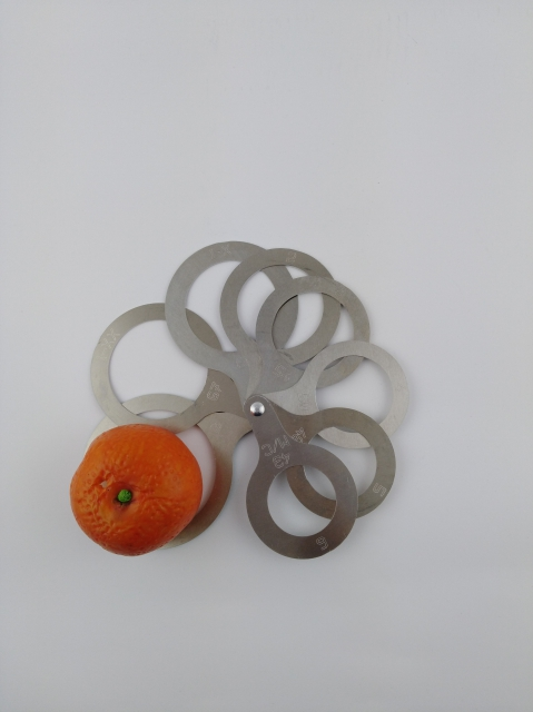 Clementine sizer 8 rings diameter from 43 to 78 mm