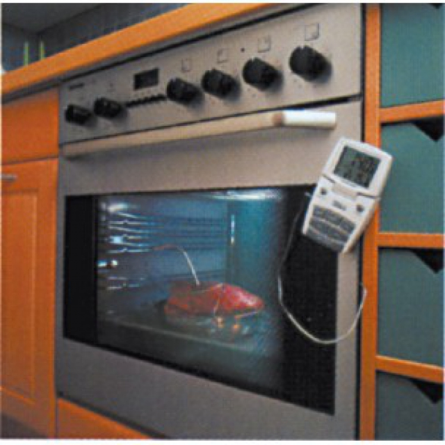 Oven thermometer with pointed probe