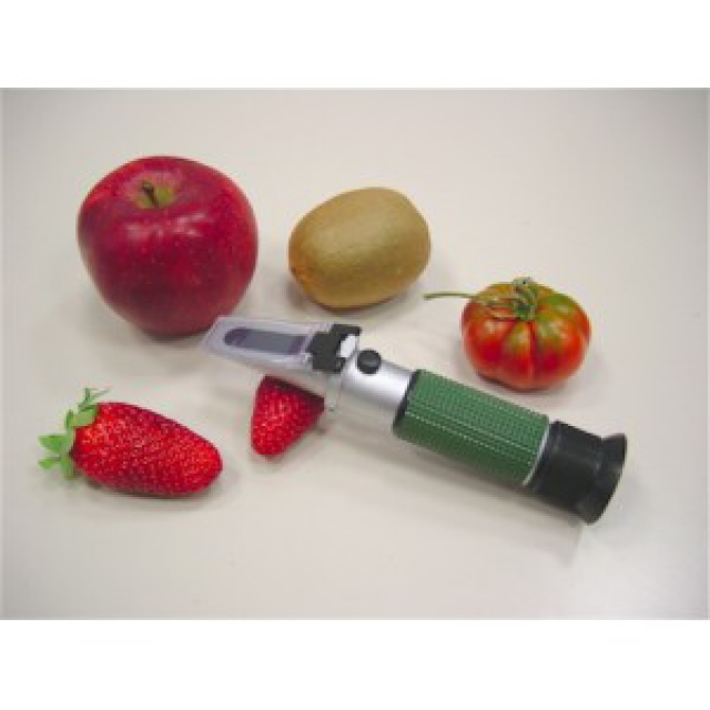Refractometer for fruit and grapes